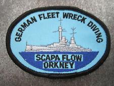 Scapa Flow Orkney German Fleet Wreck Diving Cloth Patch Badge (L10K)