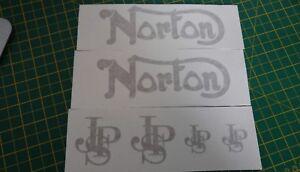 ****NORTON ROTOR MOTORBIKE GOLD DECAL x6 Set*****jps GOLD