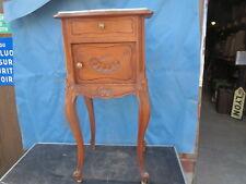 ancien Chevet Table de nuit Style Louis XV appoint petit meuble marbre coquille