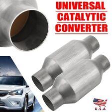 2x 25 Universal Catalytic Converter 410250 Three Way High Flow Performance