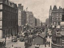 New Bridge street, Blackfriars. London 1896 old antique vintage print picture
