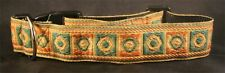 MULTI COLOURED HANDMADE NYLON DOG COLLAR WEBBING INDIAN BRAID CELTIC