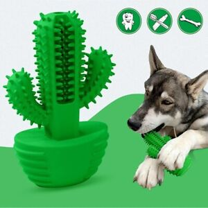 Dog Cat Pet Puppy Toy Oral Care Bite Squeaky Rubber Healthy Toothbrush Non Toxic