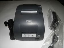 Epson Model TM-U220B POS Receipt Printer M188B Ethernet w power Supply