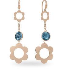ORECCHINI argento rosso 6.00 ct TOPAZIO BLU ZOCCAI L&G AGOR0001RRTLL earrings