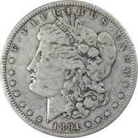 1891 O Morgan Dollar VG Very Good 90% Silver $1 US Coin Collectible