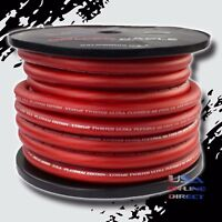 1/0 Gauge RED Power Ground Stranded Wire Car Audio Cable Sold By The Foot US