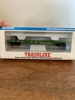 HO Scale WALTHERS Trainline 931-601 50' Burlington Northern Steel Flat Car