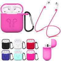 Strap Holder & Silicone Case Cover fits Apple Airpod Air Pod Airpods Accessories