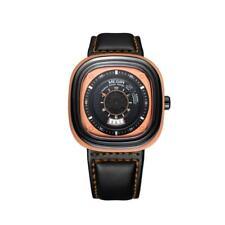 MEGIR Fashion Men Sport Quartz Watch Oval Date Waterproof Leather Wristwatch