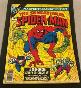 Marvel Treasury Edition #14 Sensational Spider-Man 1977 AWESOME Cover!