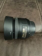Nikon Nikkor AF-S DX SWM 35 mm F/1.8G Lens With Nikon Hood. Mint Condition