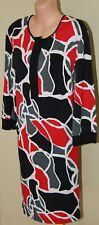 Womens Multi Colour Shift Dress - Basque Woman City - Size 16