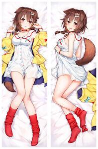 Anime Hololive inugami korone Dakimakura Hugging Body Pillow Case 59 inch