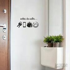 """Vinilo pared """"ANTES DE SALIR..."""" 50x24cm Vinilos decorativos puerta, cristal,..."""