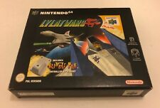 Lylat Wars Big Box Release Inc Rumble Pak Nintendo 64 N64 Complete PAL Starfox