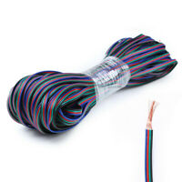 20M 22AWG 4-PIN RGB Extension Wire Cable Cord For 3528/5050 RGB LED Strip Light