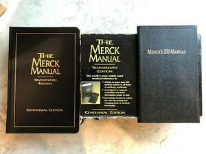 Merck Manual Centennial Edition Hardcover with Ready Reference Pocket Book MINT