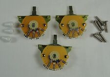 3 New Mighty Mite 5 Way switches for Fender Stratocaster Strat w/ White Tip