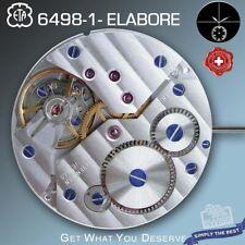 MOVEMENT ETA UNITAS 6498-1, ELABORE, COTE DE GENEVE, BLUE SCREWS