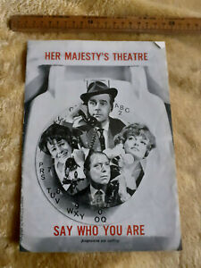 1965 Her Majesty's Theatre Say Who You Are Ian Carmichael