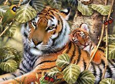 Malen nach Zahlen PJL-36 Wunderschöner Tiger mit Tigerbaby