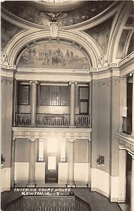 H73/ Newton Iowa RPPC Postcard c1910 Interior Court House Building  79