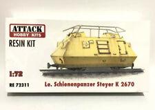 Attack Hobby Kits RESIN 1/72 German Armored Train Le Schienenpanzer Steyer K2670