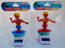 Lots 2 Surfer Powered Solar Flip Flap Dancing Bobble Surfers Blue & Red