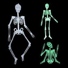 Halloween Scary Skeleto Decoration Prop Skeleton Hangingl Luminous Party Plastic