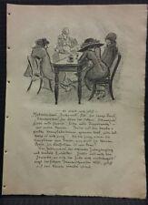 Heinrich Zille Original Lithographie 1919 Rosenbach 66 c Tanz Restaurant Nußbaum