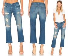 Rag & Bone Jeans Doris BOYFRIEND Mid Rise Straight Leg Distressed Sz 26