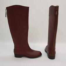 Nine West Shoe Counter Tall Knee High Back Zipper Boots Wine Dark Red 5.5 M $169