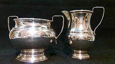 Vintage Milk Jug & Sugar Bowl Silver Plated by Garrard & Co, Regent St London.