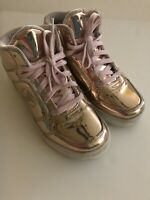 Skechers Rose Gold Energy Lights Light Up Shoes 2 rechargable Gold Foil Lace Up