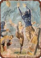 """Cook's Beer and Football Vintage Retro Metal Sign 8"""" x 12"""""""