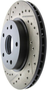 Disc Brake Rotor-Sport Drilled/Slotted Disc Front Right Stoptech 127.48012R