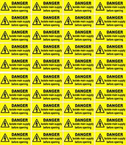 Electrical Warning Labels 230v 240v 400v 415v 440v Electric Shock, High Voltage