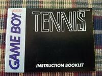 Tennis - Authentic - Nintendo Game Boy - GB - Manual Only! (DMG-TN-USA-2)