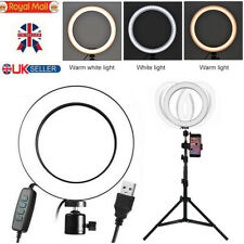 26cm LED Ring Light With Stand Dimmable Lighting Kit for Makeup YouTube Live UK