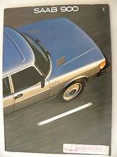Catalogue / brochure SAAB 900 de 1981 ( salon de Chicago ) en anglais