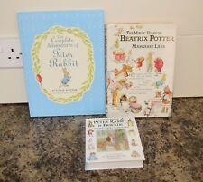 3 Books  Peter Rabbit & Friends, Complete Adventures, Beatrix Potter Magic Years