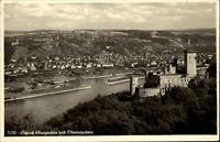Stolzenfels bei Koblenz alte AK 1936 Blick auf Schloß Stolzenfels Oberlahnstein