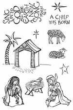 Christmas Clear Unmounted Rubber Stamps Set Impression Obsession Zenspirations