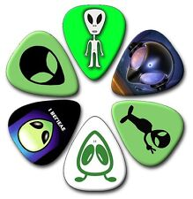 6 Alien ~ Guitar Picks ~ Plectrums   *PRINTED BOTH SIDES*