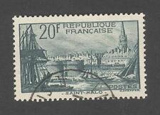 France - Timbre oblitéré St Malo N°394 - 1938 - Rare