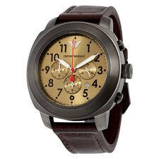EMPORIO ARMANI AR6055 Delta Chrono Correa de Cuero Reloj para hombres - 2 Años De Garantía