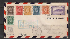 Canada #195 - #201 Used On Registered First Day Cover