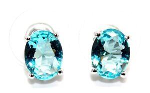 Sterling Silver Aquamarine 2.4ct Stud Earrings (925)