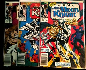 The Trial of Marc Spector Moon Knight .            Part 1, 3 & 4  Marvel Comics